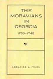 The Moravians in Georgia