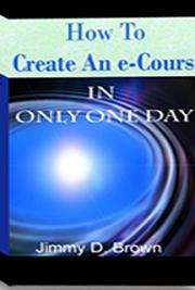 Create an eCourse in One Day cover
