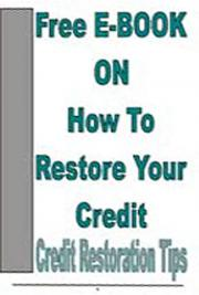 Free eBook on How to Restore Your Credit cover
