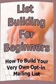 List Building for Beginners cover