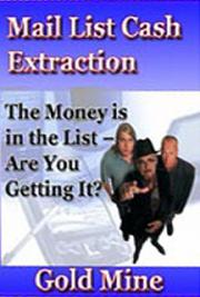 Mail List Cash Extraction- -GoldMine cover