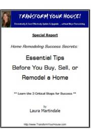 Home Remodeling Success Secrets:  Essential Tips Before You Buy, Sell or Remodel