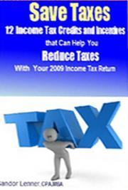 12 Income Tax Crc6edits and Incentivc6es That Can Help You Reduce Taxes  with Your 2009 Income Tax Return