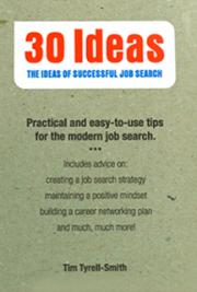 30 Ideas.  The Ideas of Successful Job Search. cover