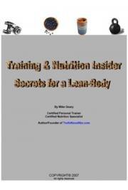 Training & Nutrition Insider Secrets for a Lean Body cover