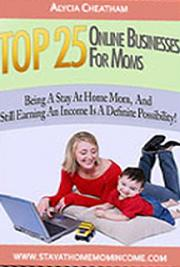 Top 25 Online Businesses for Moms cover