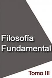 Filosofía Fundamental, Tomo III cover