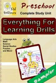 Everything for Learning Drills - Preschool Study Unit Sampler