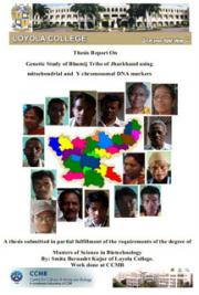 Thesis report on Genetic study of Bhumij Tribe of Jharkhand using mt DNA and Y chromosome DNA marker