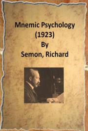 Mnemic Psychology (1923) cover