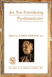 Are You Considering Psychoanalysis? cover