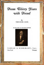 From Thirty Years with Freud (1940)