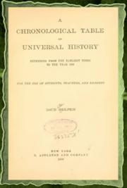 A chronological table of universal history (1892)