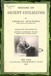 History of ancient civilization (1906) cover