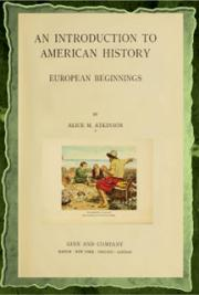 An introduction to American history; European beginnings (1914) cover