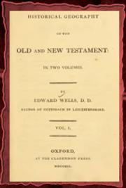 An historical geography of the Old and New Testament V. I (1809) cover
