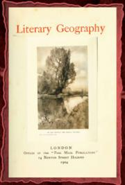 Literary geography (1904)