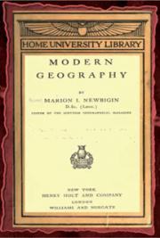 Modern geography (1911) cover