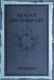 Biology and human life (1925) cover