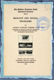 Biology and social problems (1914)