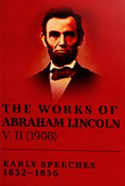 The Works of Abraham Lincoln V. II (1908) cover