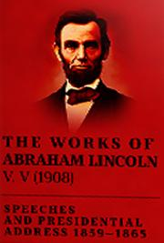 The Works of Abraham Lincoln V. V (1908) cover