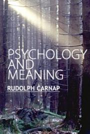 Psychology and Meaning
