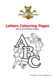 Letters Colouring Pages