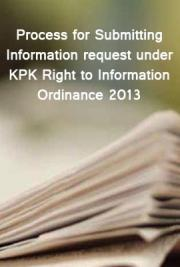 Process for Submitting Information request under KPK Right to Information Ordinance 2013
