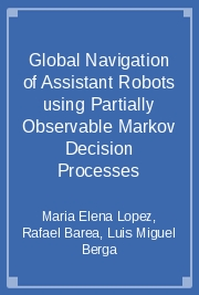 Global Navigation of Assistant Robots using Partially Observable Markov Decision Processes
