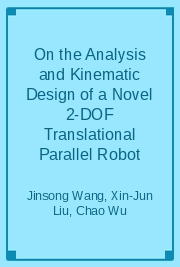 On the Analysis and Kinematic Design of a Novel 2-DOF Translational Parallel Robot
