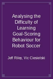 Analysing the Difficulty of Learning Goal-Scoring Behaviour for Robot Soccer
