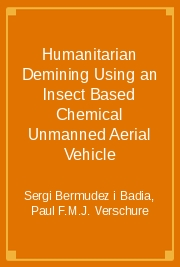 Humanitarian Demining Using an Insect Based Chemical Unmanned Aerial Vehicle