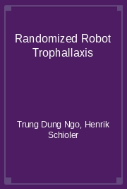 Randomized Robot Trophallaxis