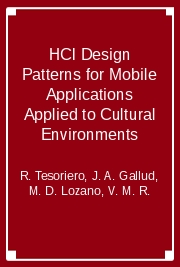 HCI Design Patterns for Mobile Applications Applied to Cultural Environments