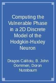 Computing the Vulnerable Phase in a 2D Discrete Model of the Hodgkin-Huxley Neuron
