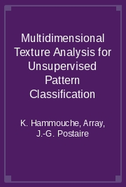 Multidimensional Texture Analysis for Unsupervised Pattern Classification