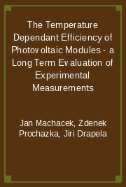 The Temperature Dependant Efficiency of Photovoltaic Modules - a Long Term Evaluation of Experimental Measurements