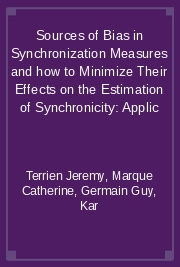 Sources of Bias in Synchronization Measures and how to Minimize Their Effects on the Estimation of Synchronicity: Applic