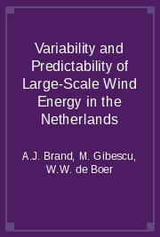 Variability and Predictability of Large-Scale Wind Energy in the Netherlands