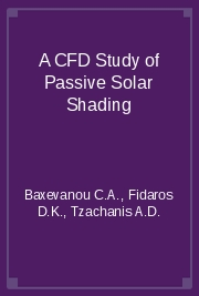 A CFD Study of Passive Solar Shading