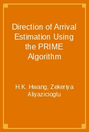 Direction of Arrival Estimation Using the PRIME Algorithm