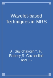 Wavelet-based Techniques in MRS