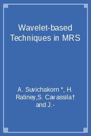 Wavelet-based Techniques in MRS