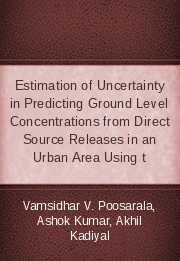Estimation of Uncertainty in Predicting Ground Level Concentrations from Direct Source Releases in an Urban Area Using t