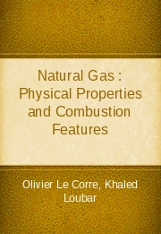 Natural Gas : Physical Properties and Combustion Features