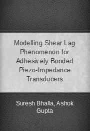 Modelling Shear Lag Phenomenon for Adhesively Bonded Piezo-Impedance Transducers