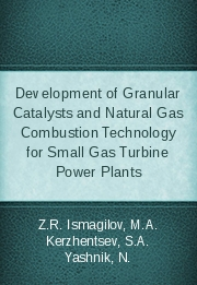 Development of Granular Catalysts and Natural Gas Combustion Technology for Small Gas Turbine Power Plants