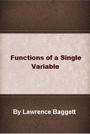 Analysis of Functions of a Single Variable