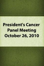 President's Cancer Panel Meeting: October 26, 2010